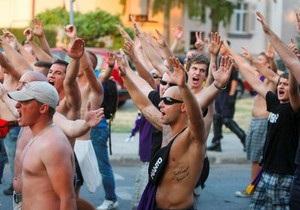 Вчера вечером киевская милиция задержала полсотни футбольных хулиганов из Хорватии