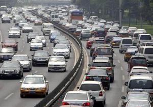 Количество автомобилей в Китае превысило 100 миллионов