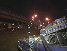 ДТП в Киеве: Автомобиль вылетел с Южного моста