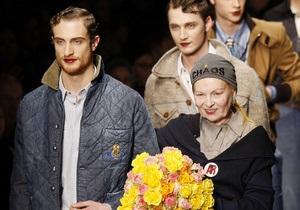 На Неделе моды в Милане Вивьен Вествуд предложила мужчинам красить губы