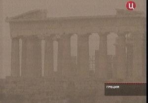 Песчаная буря накрыла Афины
