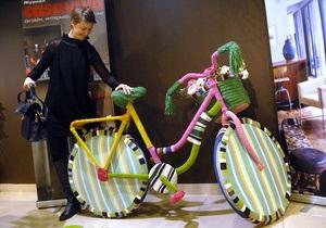 Фотогалерея: Сделано в Голландии. В Киеве открылась выставка дизайнерских велосипедов