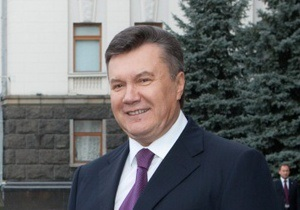 Янукович лаконично поздравил украинцев с Днем свободы