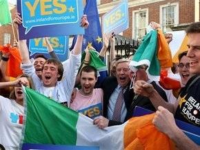 Ирландцы одобрили Лиссабонский договор