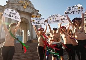 Киевская милиция задержала активисток движения FEMEN