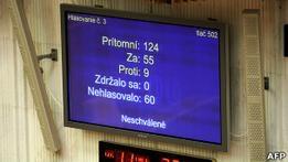 Расширение фонда спасения еврозоны дало сбой в Словакии