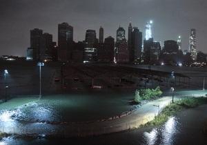 Ураган Сэнди: старожилы Манхэттена впервые наблюдают такое сильное наводнение