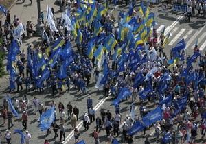 День Независимости в Киеве: Партия регионов планирует вывести на улицы 50 тысяч человек
