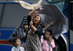На Тайвань обрушился тайфун Саола