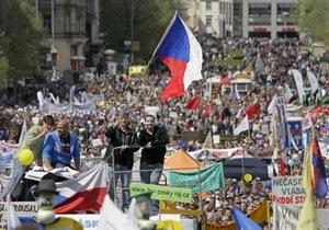 Чехия: самые многолюдные демонстрации с 1989-го