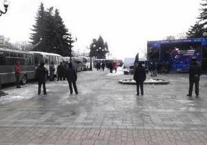Митинг - новости Киева - Бригинец - Катеричнук - оппозиция - выборы мэра Киева - Скандал на митинге. Оппозиционеры обменялись обвинениями