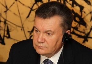 Янукович не теряет надежд договориться с Россией по газу в ближайшее время