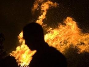 На киевском рынке Юность горели торговые контейнеры