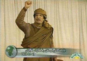 Каддафи выступит с речью
