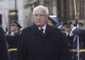 В Президента Чехии несколько раз выстрелили из пистолета для страйкбола