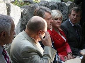 Во Львове охрана Ющенко вытолкала норвежского писателя