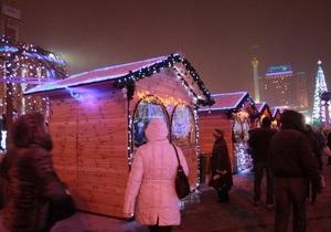 В Киеве горела Рождественская  ярмарка