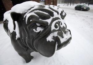 Фотогалерея: Снежная непогода в США