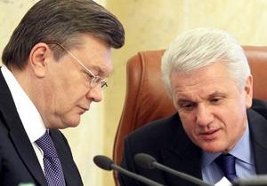 Литвин призывает Януковича высказаться по поводу языкового закона