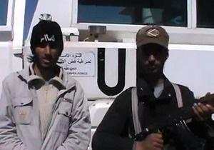 Сирийские мятежники захватили в плен 20 миротворцев ООН