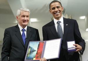 Фотогалерея: Награда нашла Обаму