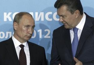 Известия: Путин и Янукович поговорят в Киеве о газе