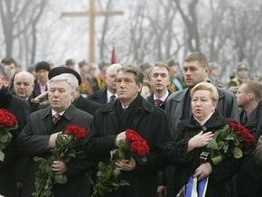 Ющенко посетил место захоронения участников боя под Крутами