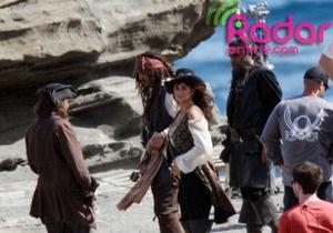 Опубликованы первые фото Пенелопы Крус на съемках Пиратов Карибского моря-4