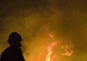 В Киеве горела недействующая компрессорная станция