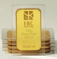 Брендированные золотые слитки – уже в отделениях Банка  Финансы и Кредит