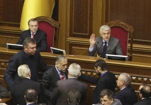 Литвин ведет заседание Рады в заблокированном президиуме