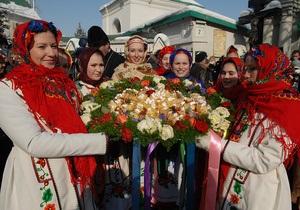 Масленица - празднование Масленицы - Дед Мороз и Государыня Масленица подпишут соглашение о весне
