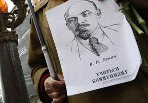 В Луганске участники митинга сравнили Ленина с Путиным и Христом