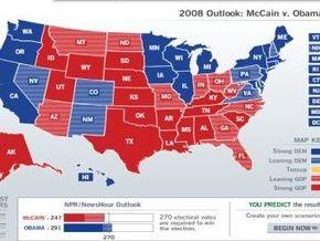 Выборы в США: Штаты Обамы и штаты Маккейна. Кто за кого голосует
