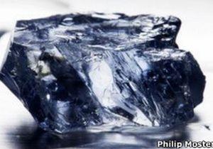 В ЮАР нашли редкий голубой алмаз весом в 25,5 карата