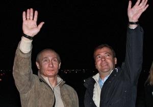 СМИ: В Химкинском лесу сожгли чучела Медведева и Путина