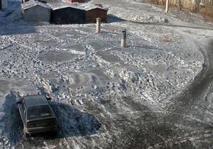 В России выпал черный снег