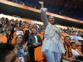 Тимошенко: На открытии Донбасс-Арены выступать имел право только Ахметов