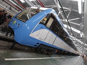 В киевском метро появился первый отечественный поезд