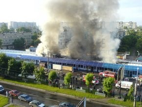 Фотогалерея: Пожар на Левандовке