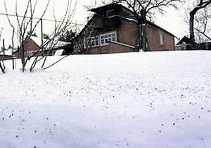 В Харьковской области выпал черный снег