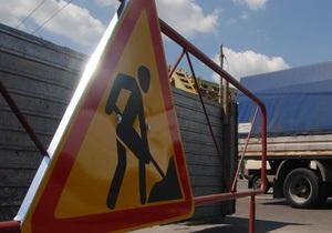 В Киеве движение по улице Хорива ограничили почти на два месяца