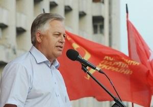 Симоненко предлагает на референдуме обсудить герб и гимн, с которыми  встречали Гитлера