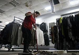 В Киеве из-за прорыва трубы затопило торговый центр Олимпийский