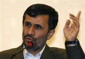 Ахмадинеджад не исключил переговоров с шестеркой по ядерной проблеме