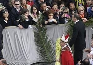 Вербное воскресенье: Папа отслужил мессу
