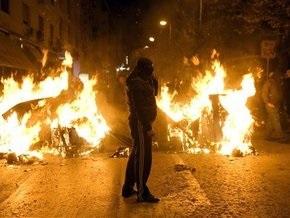 В Афинах после мирной демонстрации подожгли банк