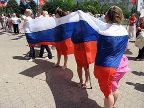 В Симферополе прошло шествие активистов пророссийских организаций