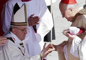 Папа Римский Франциск официально стал главой Католической церкви