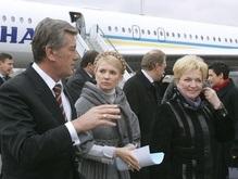 Фотогалерея: Как Тимошенко Ющенко в аэропорту встречала